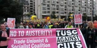 Demonstrating for Strikes
