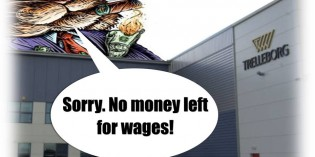 """Profits for the Bosses, """"Pay Betrayal"""" for the Workers"""