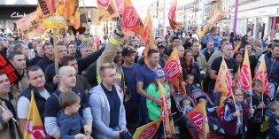 Firefighters Take to the Streets