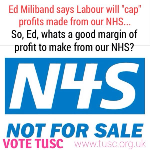 Save Our NHS: TUSC Parliamentary Letter