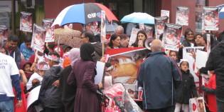 Heart Unit Protestors Take to Belgrave Road in Pouring Rain