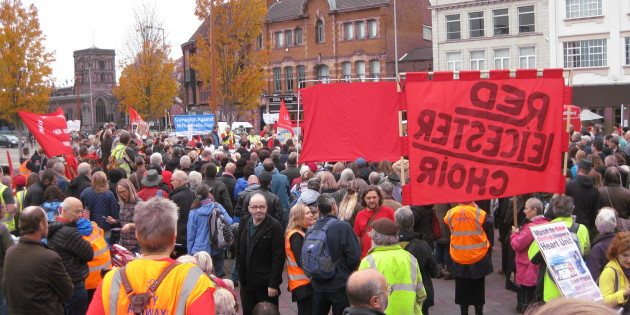 Over One Thousand March to Save Glenfield Heart Unit