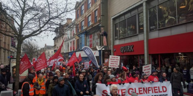 Thousands March to Defend Glenfield Heart Centre