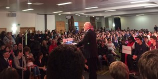 Overflowing Corbyn Rally in Leicester