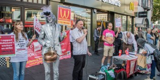 Leicester Protest Supports Historic Strike at McDonald's