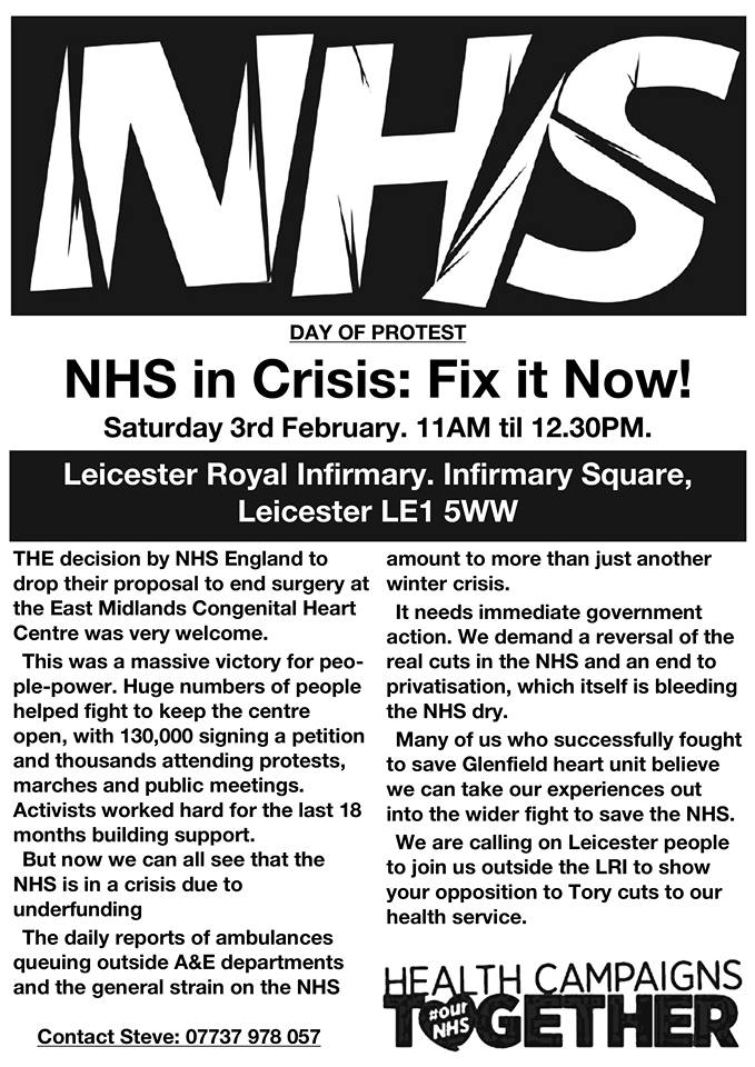 NHS leaflet Feb 3 2018